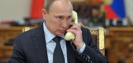 путин у телефона
