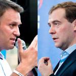 медведев и навальный
