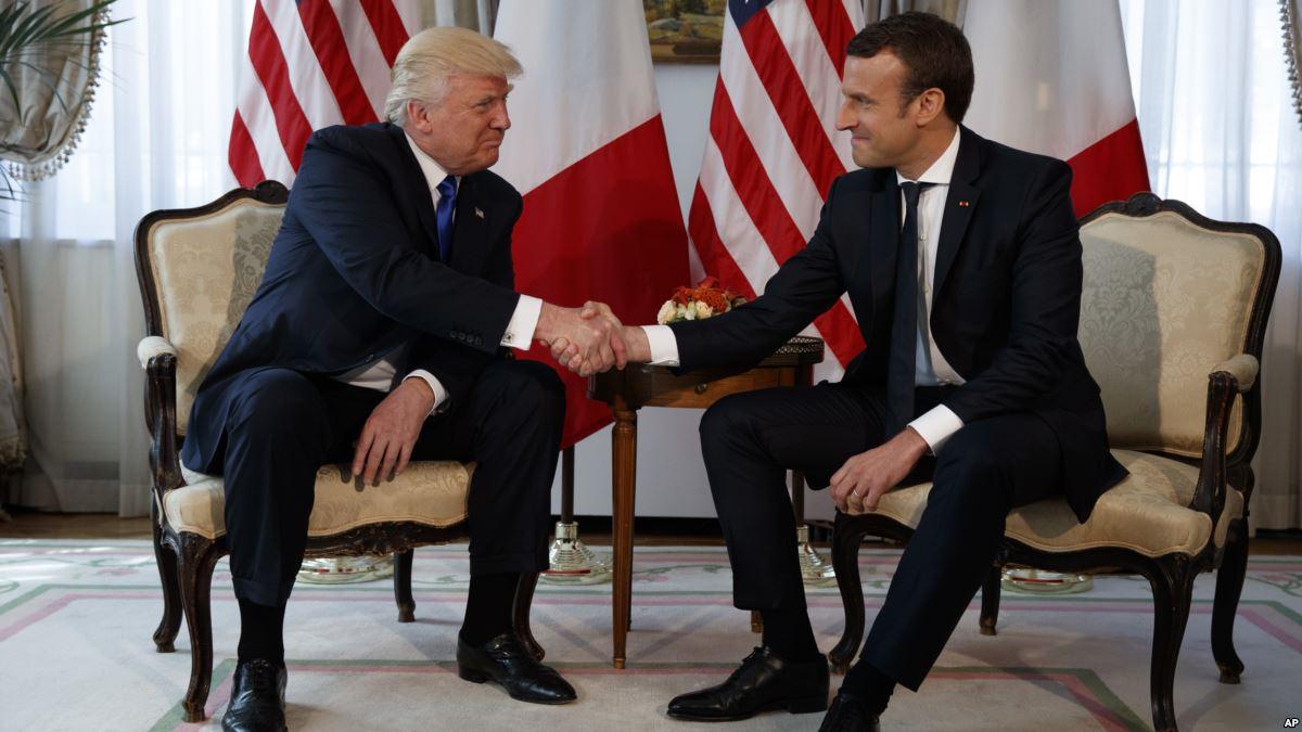 макрон и трамп