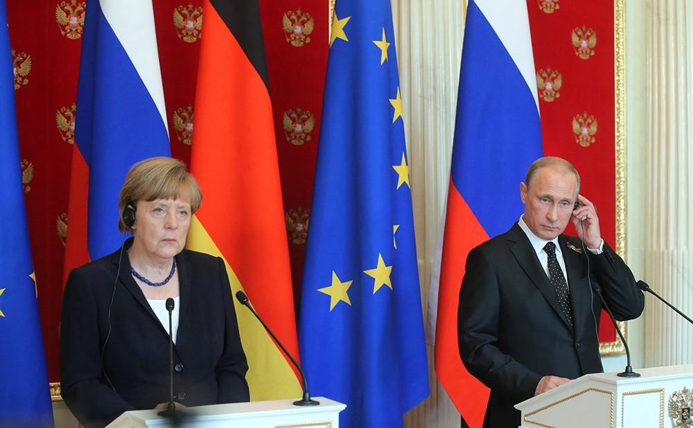 путин и меркель-2