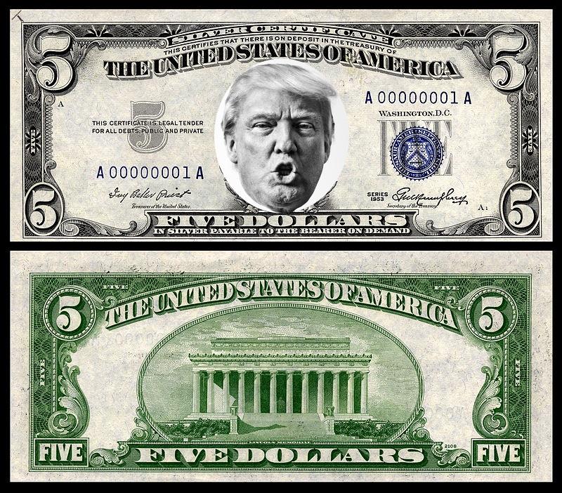 трамп на долларе