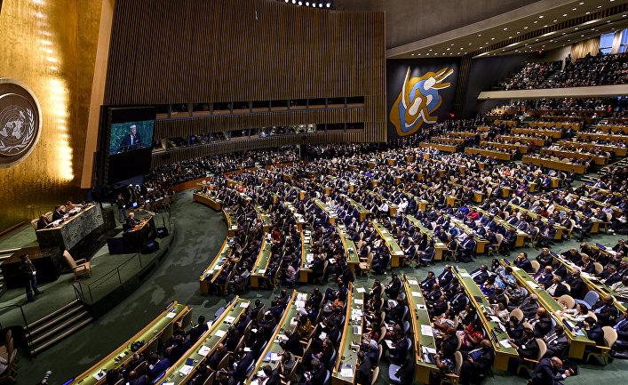 резолиция в ООН. Зал