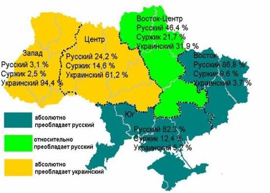 языковая карта