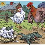 курица крокодил