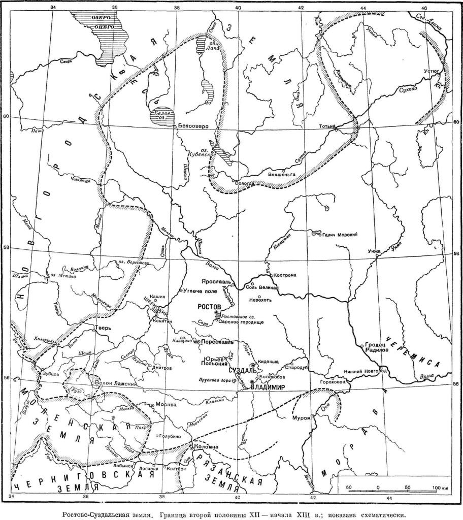 карта суздальской земли