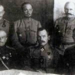 Командование Западной армии. М.В.Ханжин в центре