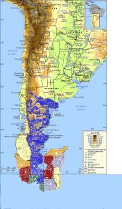 Картка района Полуострова Огненная Земля