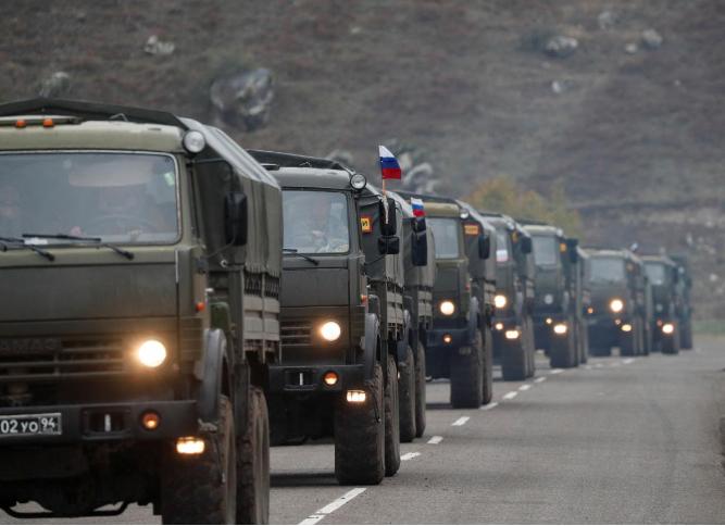 российская колонна в Карабахе
