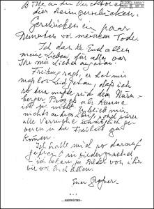 Якобы предсмертная записка Рудольфа Гесса.  Сложно поверить чтобы человек её писал всю ночь напролёт