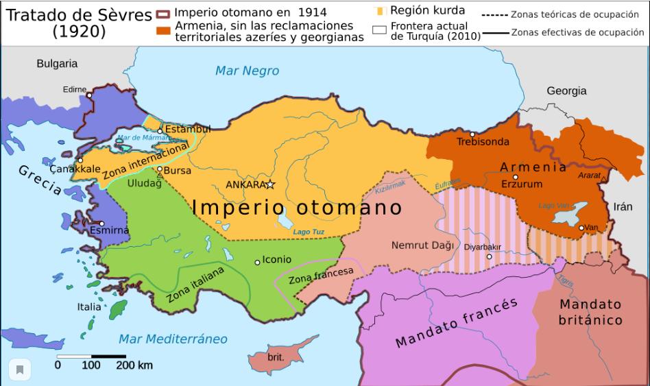 армения по севрскому мирному договорй