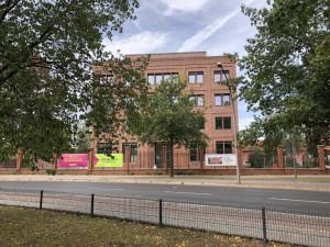 Офис на месте снесённой Межсоюзной тюрьмы Шпандау, 2019 год