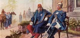 Наполеон III и Бисмарк на следующий день после капитуляции французов при Седане